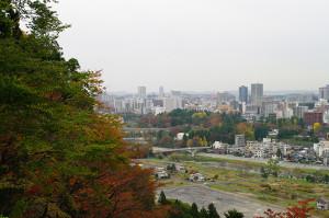 仙台城跡から見た仙台市内